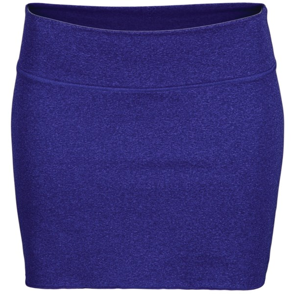 CLOSEOUTS . Wear the ultrasoft and stretchy New Balance Anue Arise skirt over a pair of leggings for a cute and comfy yoga ensemble, complete with a pleated back detail and wide waistband. Available Colors: CLEMATIS BLUE, JAZZY. Sizes: XS, S, M, L, XL.