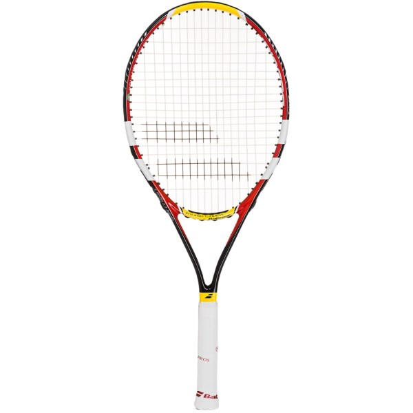 CLOSEOUTS . Newcomers to the sport will appreciate the forgiving design of Babolatand#39;s Contact Team French Open tennis racquet. It features a Yoke Dampening System for reduced vibration and an oversized head shape. Available Colors: CLAY. Sizes: 4_1/4, 4_3/8, 4_1/2.