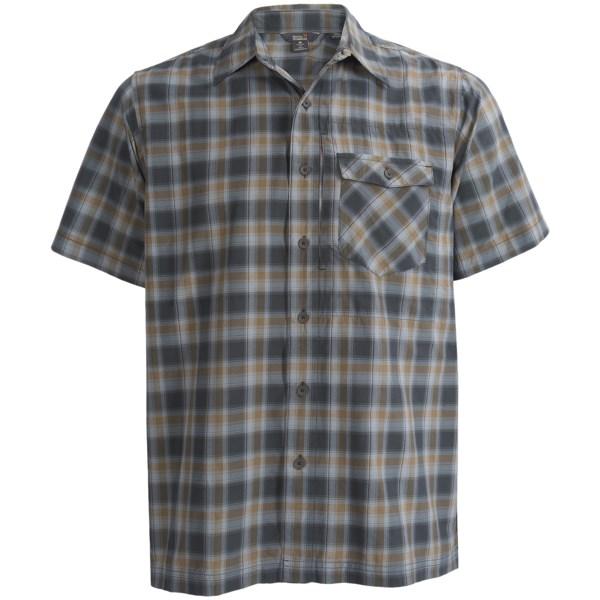 Royal Robbins Slickrock Plaid Shirt   UPF 30+  Short Sleeve (For Men)   ARIZONA ORANGE (L )
