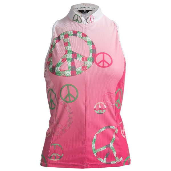 Canari Peace Out Cycling Tank Top - Deep Zip Neck