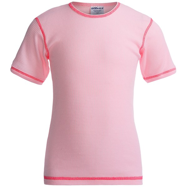 Watson?s Thermal Waffle Base Layer Top - Lightweight  Short Sleeve (for Girls)