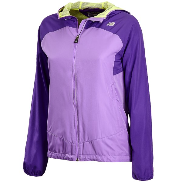 CLOSEOUTS . A versatile, lightweight jacket that can be worn on runs, hikes and into town on a chilly day, New Balanceand#39;s Sequence hooded jacket provides moisture-wicking, quick-drying and breathable comfort with mesh lining and a Lightning Dryand#174; shell. Available Colors: BLACK, BLUE ATOLL/DAZZLING BLUE, SUNNY LIME W/ POOLSIDE, AMETHYST W/ VIOLET. Sizes: XXS, XS, S, M, L, XL, 2XL.