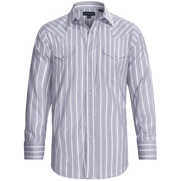 Panhandle Slim Satin Lurex(R) Stripe Shirt - Snap Front, Long Sleeve (For Men)