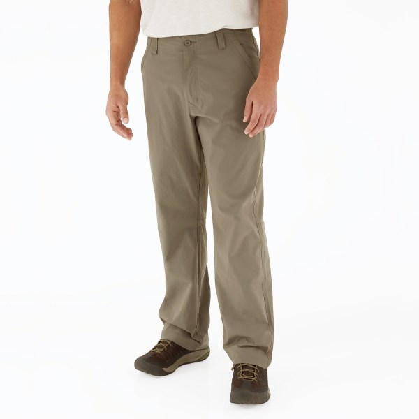 CLOSEOUTS . A terrific-looking adventure pant with discreet cargo and back security pockets, Royal Robbinsand#39; Global Traveler pants are superlight and comfortable to wear sitting or trekking. And they provide excellent sun protection at UPF 50 . Available Colors: KHAKI, BURRO, EVERGLADE.