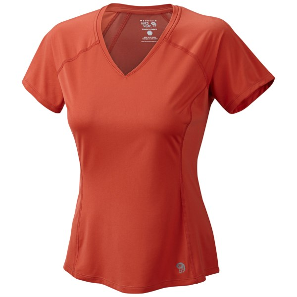 Mountain Hardwear Tephra Trek T Shirt   UPF 50  Short Sleeve (For Women)   BLACK (M )