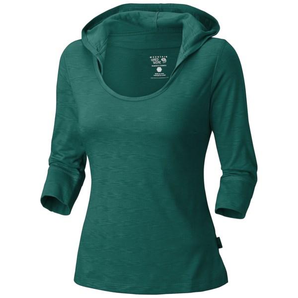 Mountain Hardwear Lochvale Hooded Shirt - 3/4 Sleeve (For Women)