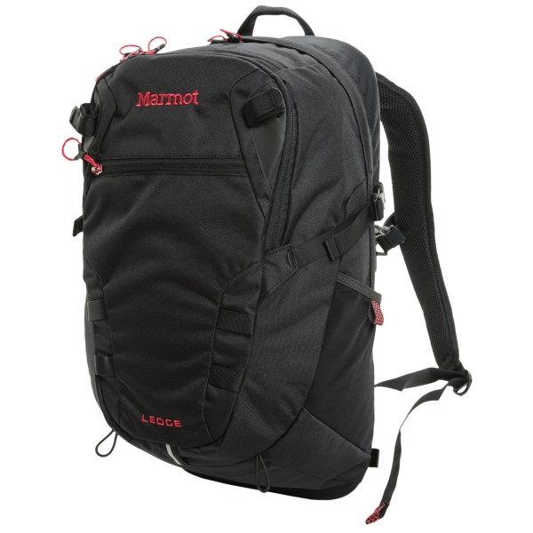 CLOSEOUTS . Designed to stand up to the use and abuse of your active lifestyle, Marmotand#39;s Ledge backpack comfortably carries your electronics, everyday items and gear so you can head straight to the trail at the end of a full day. Available Colors: CINDER /DARK GRANITE, SURF/CINDER, DARK KHAKI/RUST, BLACK, GREEN LICHEN.