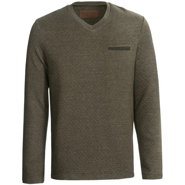 Comstock and Co. Mini Diamond Knit Shirt - Elbow Patches, Long Sleeve (For Men)