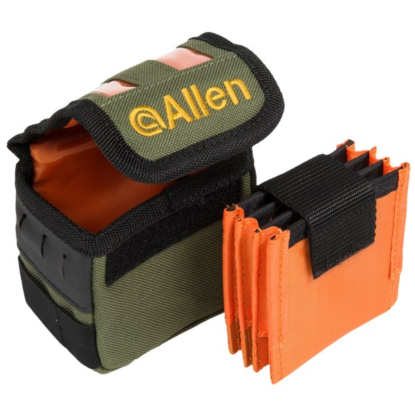 CLOSEOUTS . Allen Co.and#39;s Tippet spool holder easily attaches to most vests and chest packs and holds three leader spools. Available Colors: GREEN.