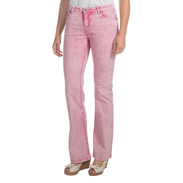 CLOSEOUTS . Popular colored denims get into the washed act with FDJ French Dressingand#39;s Kylie Cloud Wash jeans -- a light denim blend of cotton, polyester and 2% stretch, fit for women with balanced proportions. Available Colors: CARNATION PINK. Sizes: 0, 2, 4, 6, 8, 10, 12, 14, 16.
