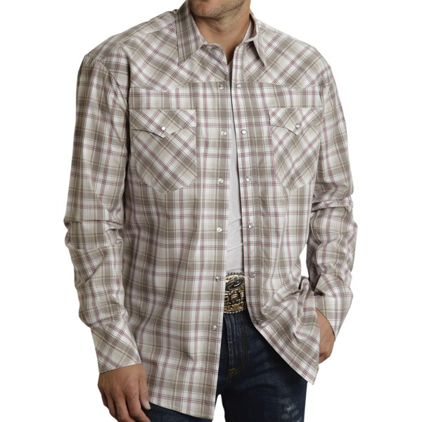 Roper Amarillo Plaid Shirt - Pearlized Snaps, Long Sleeve (for Men)