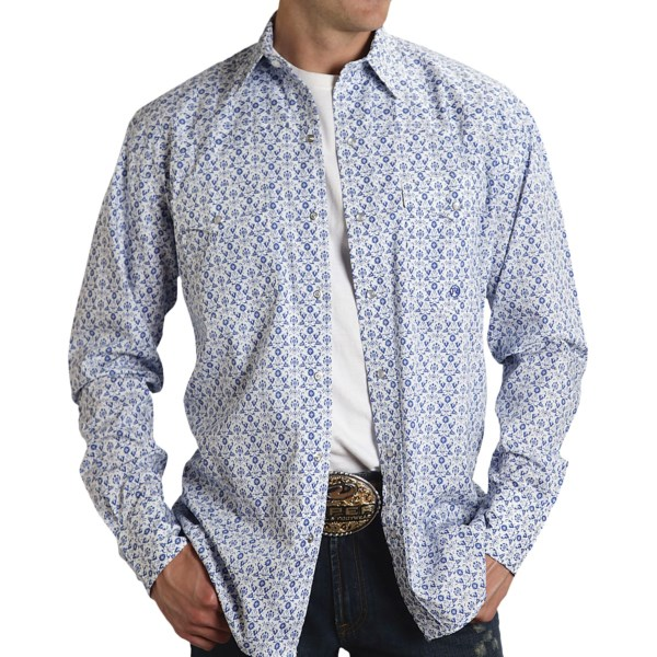 Roper Amarillo Allover Print Shirt - Snap Front, Long Sleeve (For Men)
