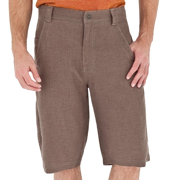 CLOSEOUTS . Get the cooling benefit of linen without the post-suitcase wrinkles. Royal Robbinsand#39; Ensenada shorts are made from a substantial 8.5 oz. fabric that blends linen and rayon into a wonderful texture that drapes beautifully, offers UPF 30  sun protection and is ready to wear. Available Colors: CHARCOAL, LIGHT KHAKI, TAUPE.