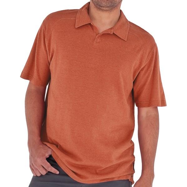Royal Robbins Flynn Cricket Shirt   UPF 50+  Short Sleeve (For Men)   BRICK (XL )
