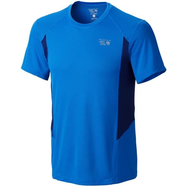 Mountain Hardwear Double Wicked T Shirt   Short Sleeve (For Men)   HYPER BLUE (L )