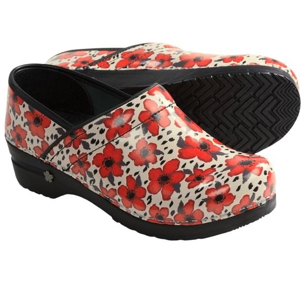 Sanita Koi Poppy Clogs - Patent Leather, Closed Back (For Women)