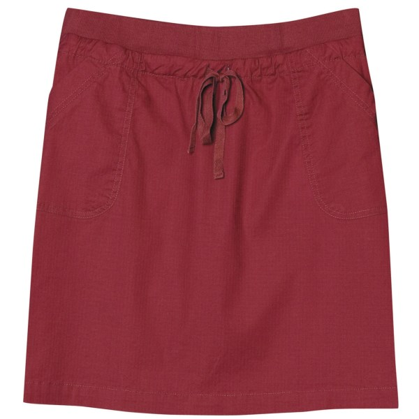 CLOSEOUTS . Explore the city or the trail in Aventura Clothingand#39;s Sullivan skirt, made of durable, lightweight mini ripstop fabric with a comfy rib-knit waistband and patch pockets. Available Colors: BIKING RED, PUTTY. Sizes: 2, 4, 6, 8, 10, 12, 14, 16.