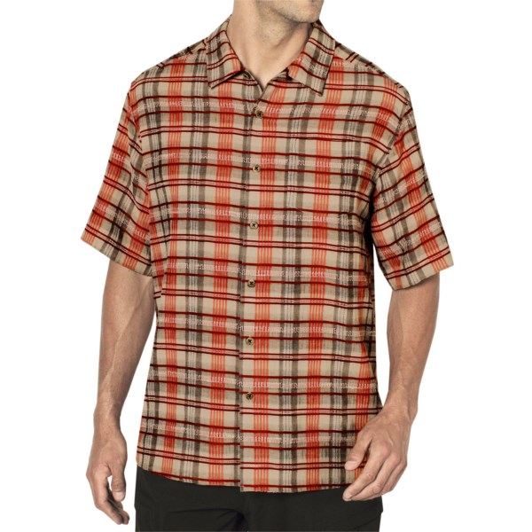 ExOfficio Now Boarding Plaid Shirt - Short Sleeve (For Men)