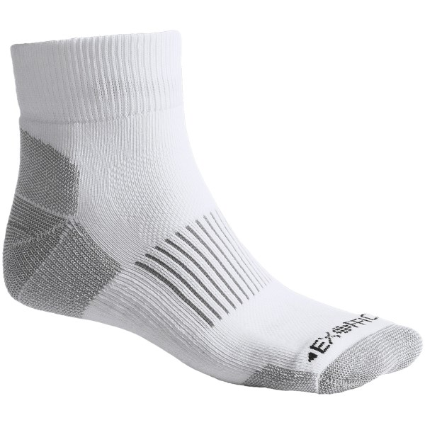 Exofficio BugsAway(R) Take On Ankle Socks   Lightweight (For Men and Women)   WHITE (XL )