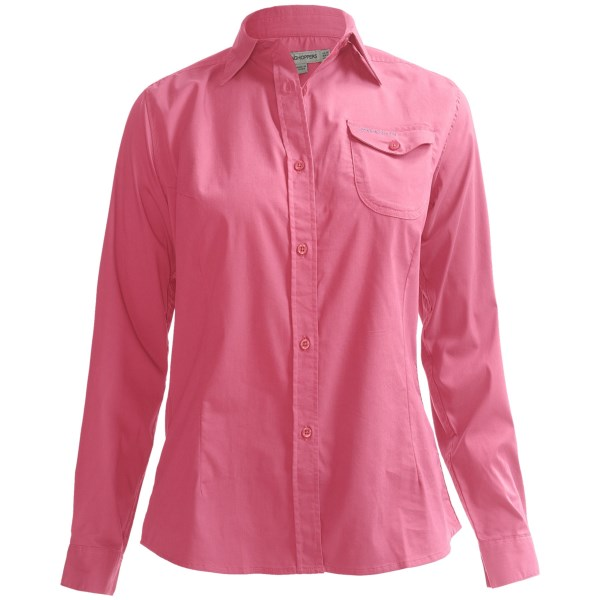 Craghoppers Kiwi Button-Front Shirt - UPF 40 , Long Roll Sleeve (For Women)