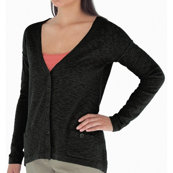 CLOSEOUTS . A light, no-bulk knit with a cool, textural design, Royal Robbinsand#39; Pacific Heights cardigan sweater offers just the kind of coverage youand#39;re looking for in a Northwest-inspired layer. Available Colors: JET BLACK. Sizes: XS, S, M, L, XL.