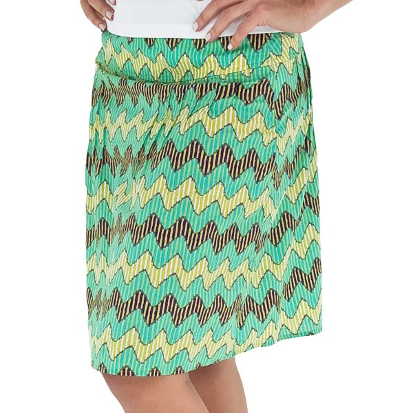 CLOSEOUTS . Funky, wavy stripes and bold colors make Royal Robbinsand#39; Prairie Stripe skirt a fun way to liven up your style. The summer-weight cotton is airy and soft, and the flattering pleats lend an appealing touch. Available Colors: MINT, ROSEHIP, SALVIA BLUE. Sizes: 4, 6, 8, 10, 12, 14, 16.