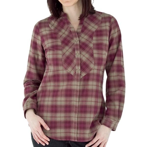 Royal Robbins Prairie Plaid Shirt   Long Sleeve (For Women)   BEET (M )