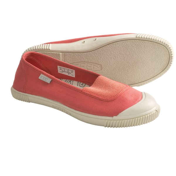 CLOSEOUTS . Keenand#39;s Maderas Ballerina shoes are like summer vacation for your feet -- these sweet, everyday canvas skimmers speak of carefree days spent in the sunshine. Available Colors: BOUGAINVILLEA, BRIGHT CHARTREUSE, HOT CORAL, BLUE INDIGO. Sizes: 5, 5.5, 6, 6.5, 7, 7.5, 8, 8.5, 9, 9.5, 10, 10.5, 11.