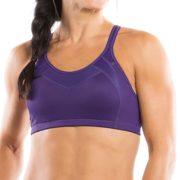 CLOSEOUTS . With two different unique styles for different cup sizes, Moving Comfortand#39;s Urban X-Over sports bra delivers high-impact support and shaping to fit every womanand#39;s needs. Available Colors: FIESTA, OCEAN, VIOLET, BERRY, BLACK/SHIMMER, BLIZZARD, BLACK/CITRUS, RED HOT, WHITE, VELVET, BLACK SPLASH, PIXIE SPLASH, RAINBOW, STARDUST, BLUSH MINI GLITTER, GEM, GEM MINI GLITTER, WHITE/SILVER. Sizes: XS, S, M, L, XL.