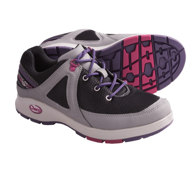 CLOSEOUTS . A stable multi-sport shoe with great arch support, Chacoand#39;s Vika shoes come with plenty of underfoot cushioning and a padded collar for comfort. Available Colors: BLACK, GUNMETAL, OLIVINE. Sizes: 5, 5.5, 6, 6.5, 7, 7.5, 8, 8.5, 9, 9.5, 10, 10.5, 11, 12.