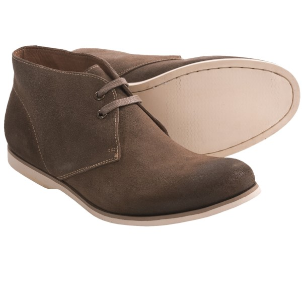 CLOSEOUTS . Itand#39;s the roughed-up suede upper and upturned toe that make John Varvatos Star USAand#39;s Filmore chukka boots turn heads. (Well, that and the man whoand#39;s wearing them.) Available Colors: SANDSTONE CALF SUEDE, LEAD CALF SUEDE. Sizes: 8, 8.5, 9, 9.5, 10, 10.5, 11, 11.5.