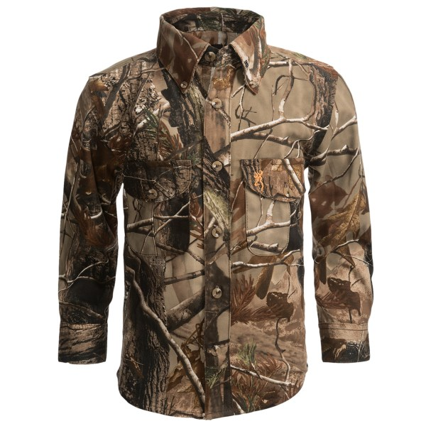 Browning Junior Wasatch Shirt - Long Sleeve (For Kids)