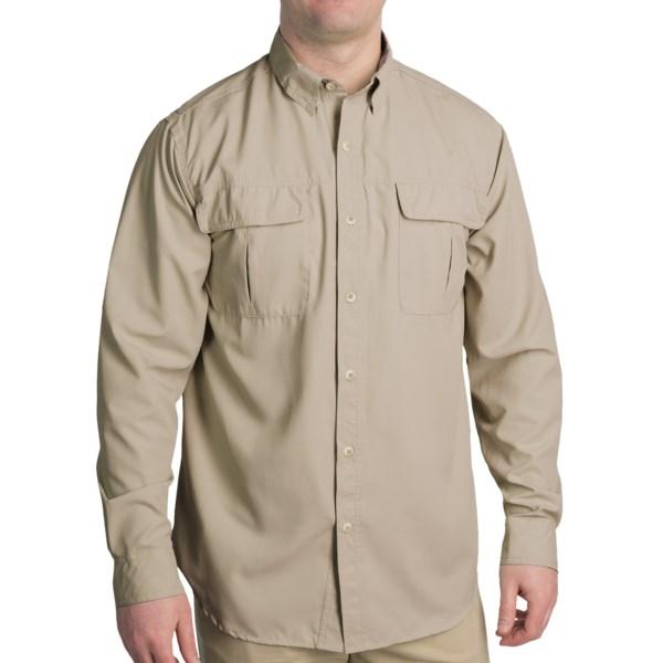 White Sierra Castaway Shirt - UPF 30, Long Roll-Up Sleeve (For Men)