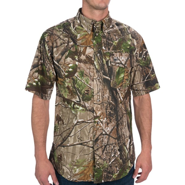 Beretta AP Camo Signature Shooting Shirt - Short Sleeve (For Big Men)