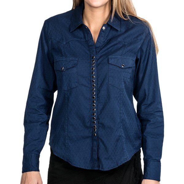 Scully Diamond Jacquard Western Shirt - Long Sleeve (For Women)
