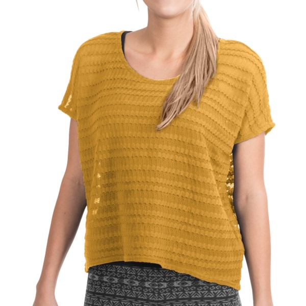 Threads 4 Thought Bijou Lace Sweater - Short Sleeve (For Women)
