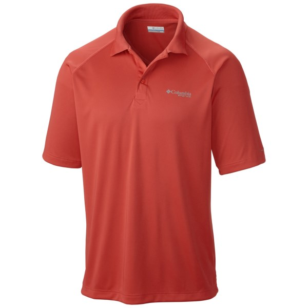 CLOSEOUTS . Designed for moisture-wicking performance and sun protection on the boat and while casting from shore, Columbia Sportswearand#39;s Terminal Tackle polo shirt is made with the active angler in mind. Available Colors: SAIL RED, COOL GREY, CHAMELEON GREEN, STORM, WHITE CAP, SORBET. Sizes: S, M, L, XL, 2XL.