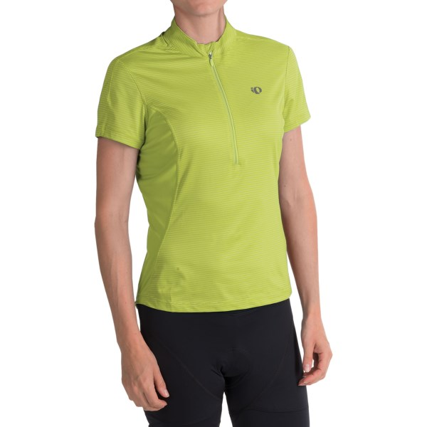 CLOSEOUTS . Pearl Izumiand#39;s Ultrastar jersey provides all-star comfort with moisture-wicking SELECT Transfer Dry fabric, a ventilating neck zip and soft, stretchy side panels. Available Colors: PARADISE PINK, LIME, BERRY, PURPLE HAZE, BLACK, CRIMSON, DAZZLING BLUE. Sizes: XS, S, M, L, XL, 2XL.