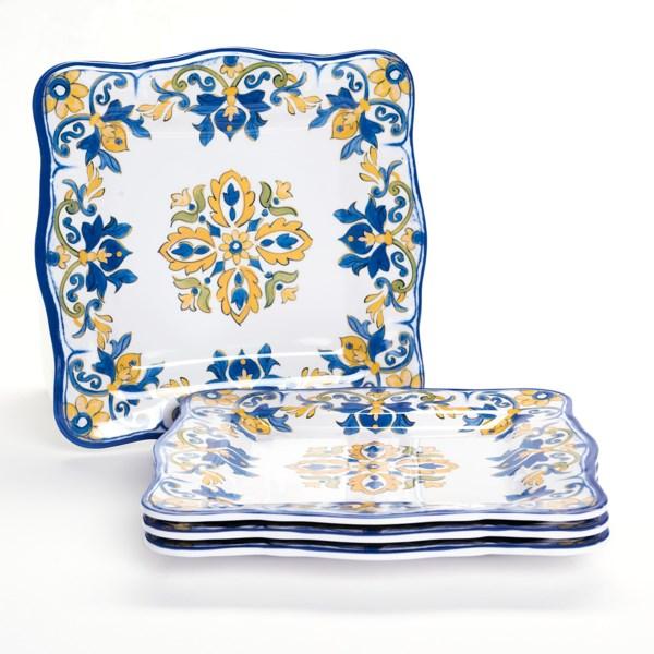Le Cadeaux Seville Melamine Salad Plates - 9?, Set of 4