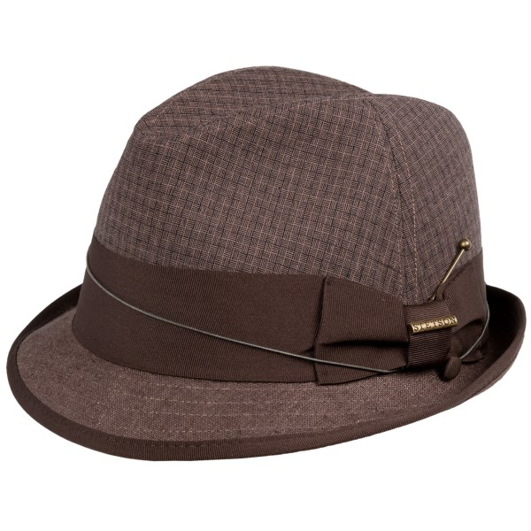 CLOSEOUTS . Clean lines, a classic shape and a woven linen-cotton blend make Stetsonand#39;s fedora hat a favorite that crosses generations, genres and styles for years to come. Available Colors: BROWN. Sizes: L, XL.