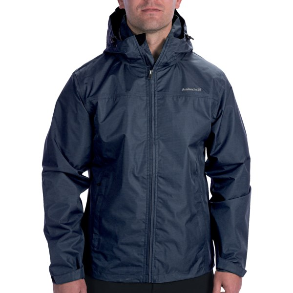 CLOSEOUTS . The Avalanche Wear Linear jacket offers excellent value in waterproof breathable storm protection for your next stormy trail hike or city outing. Available Colors: BLACK, ECLIPSE, DEEP WATER, HUNTER GREEN. Sizes: S, M, L, XL.