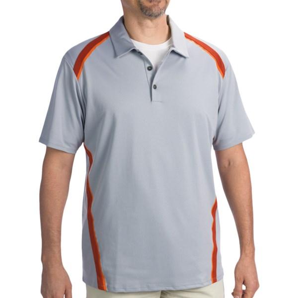 Adidas Golf ClimaCool(R) Pique Angular Taped Polo Shirt - Short Sleeve (For Men)