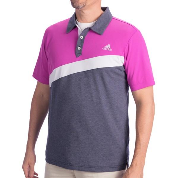 Adidas Golf ClimaLite(R) Angular Color-Blocked Polo Shirt - Short Sleeve (For Men)