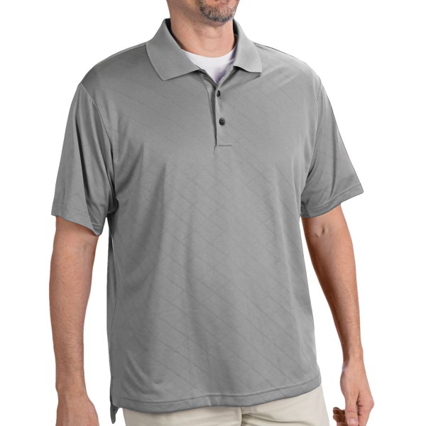 Adidas Golf ClimaCool(R) Diagonal Textured Polo Shirt - Short Sleeve (For Men)