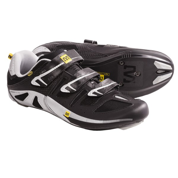 CLOSEOUTS . Mavicand#39;s Peloton road cycling shoes feature an Energy Composite Outsole that transfers energy directly to the pedals for excellent speed and efficiency. Available Colors: BLACK/MTSILV/YEMAV. Sizes: 5.5, 6, 6.5, 7, 7.5, 8, 8.5, 9, 4, 5, 4.5.