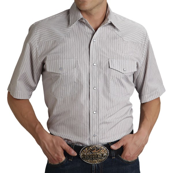 Roper Karman Classic Stripe Shirt - Snap Front, Short Sleeve (For Men)