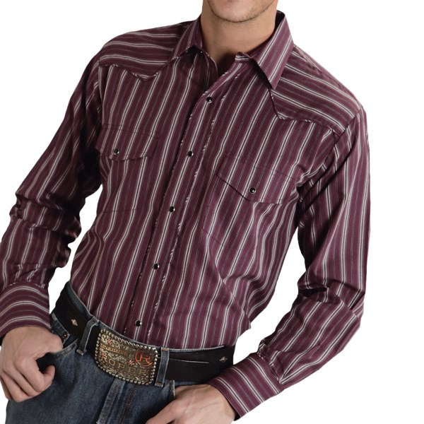 Roper Karman Special Striped Western Shirt - Snap Front, Long Sleeve (For Men)