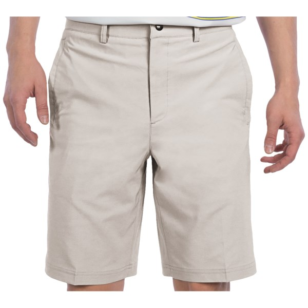 CLOSEOUTS . Every game is a good game when youand#39;re wearing Zero Restrictionand#39;s Links Tech shorts. Theyand#39;re made of stretchy, lightweight and moisture-wicking fabric to provide relaxed comfort on the golf course. Available Colors: NAVY, TAUPE, BLACK, STONE.