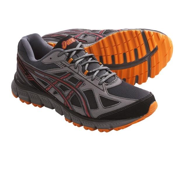 f76c9fa8e60d Asics GEL Scram 2 Trail Running Shoes (For Men) BLACK ONYX RED (10 ...