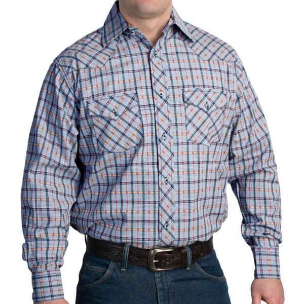 Rancho Estancia Textured Plaid Western Shirt - Long Sleeve (For Men)